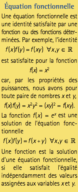 Equation fonctionnelle