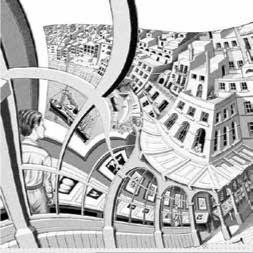 Gravure complétée par l'équipe de Lenstra à partir du dessin complété.