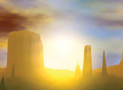 Monument Valley, image fractale, Copyright Jean-François Colonna