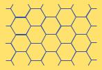 Représentation graphique d'une couche de graphène.