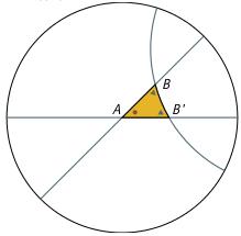 Un triangle hyperbolique