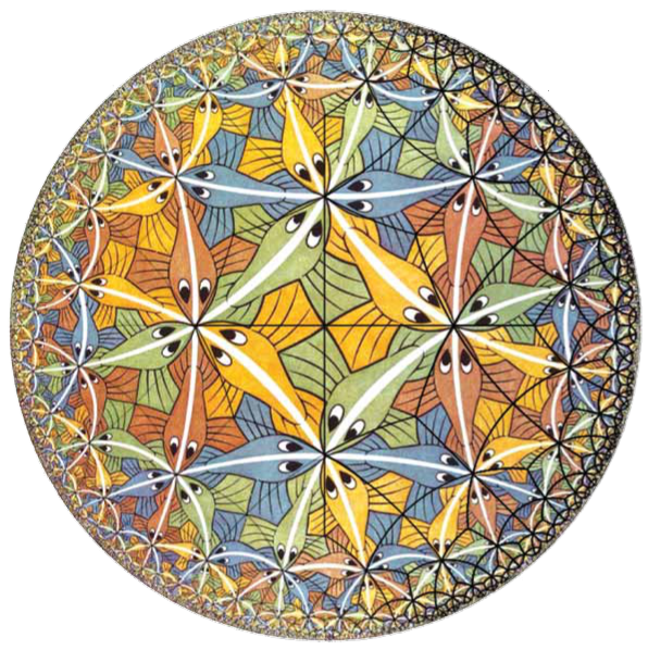 Cercle limite III de M. C. Escher © 2009, The M. C. Escher Company – Holland, All Rights Reserved. www.mcescher.com