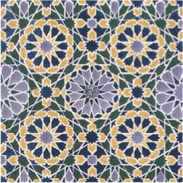 Jones, Owen Reproduction d'une mosaïque de l'Alhambra 1842, St. Louis Public Library