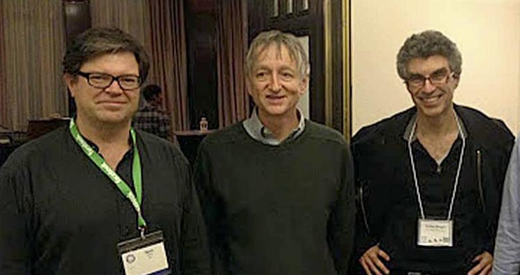 Les «pères» de l'apprentissage profond: Yan LeCun, Geoffrey Hinton et Yoshua Bengio (tiré de la page Facebook de Andrew Ng)